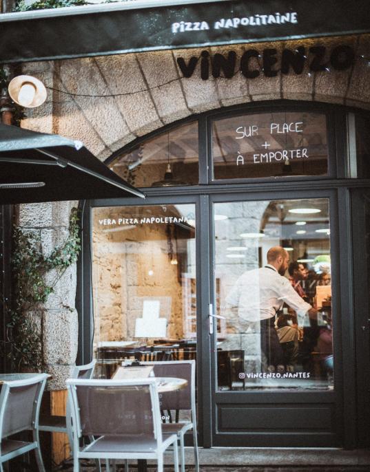 Façade restaurant Vincenzo à Nantes