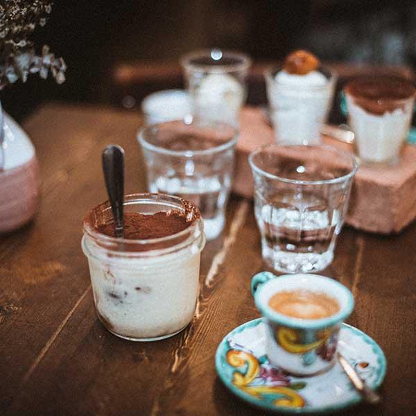 Desserts Vincenzo, tiramisù, caffè